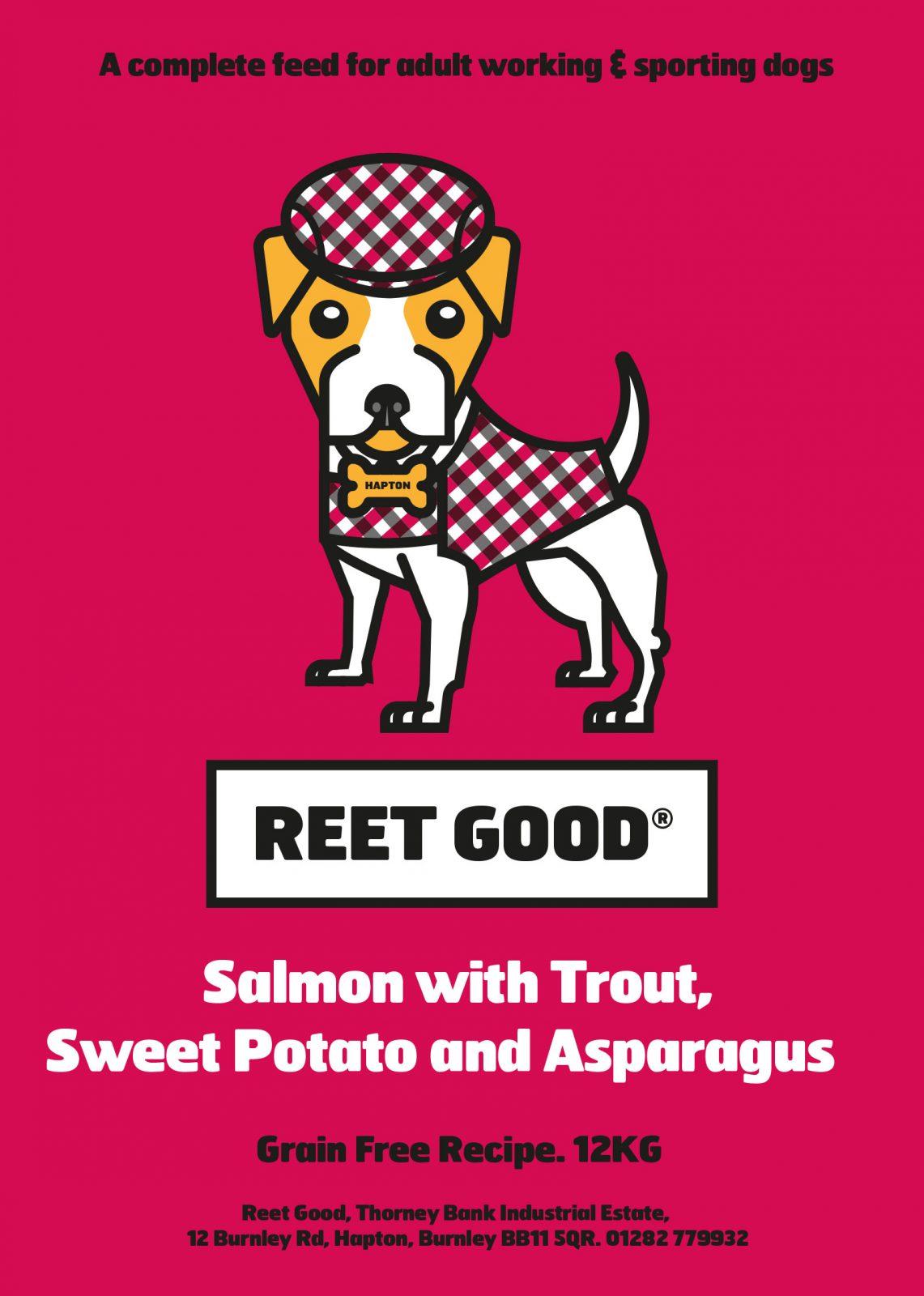 Salmon, Trout, Sweet Potato & Asparagus